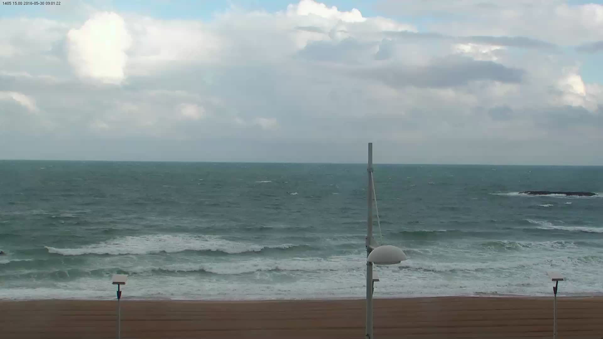 Latest webcam still for Biarritz Grande Plage